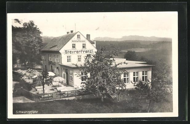 AK Schwarzpfütz, Hotel & Pension Steyrer Franzl