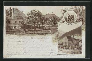 AK Mürzsteg, Alos Grabner`s Hotel und Kirche