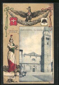 AK Capodistria, La cattedrale, Wappen