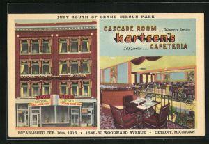 AK Detroit, MI, Kartsen's Cafeteria, Cascade Room