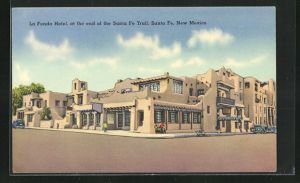 AK Santa Fe, NM, La Fonda Hotel at the end of the Santa Fe Trail