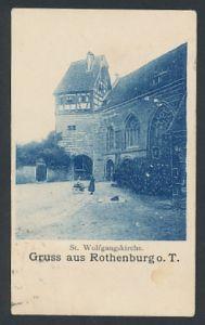Mini-AK Rothenburg o. T., Blick auf die St. Wolfgangskirche