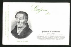AK Portrait Joachim Nettelbeck, preuss. Patriot, 1738-1824