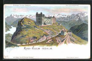 Künstler-AK C. Steinmann: Rigi-Kulm, Ortsansicht