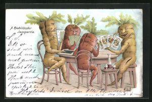AK Metamorphose, A Rüebliländer Jasspartie, Rüben beim Kartenspiel