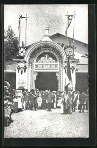 AK Neuchatel, Tir Cantonal 1906, Schützenfest, Eingang