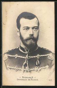 AK Zar Nikolaus II. von Russland in Uniform, Empereur de Russie