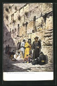 Künstler-AK Friedrich Perlberg: Jerusalem, The wall of the jews