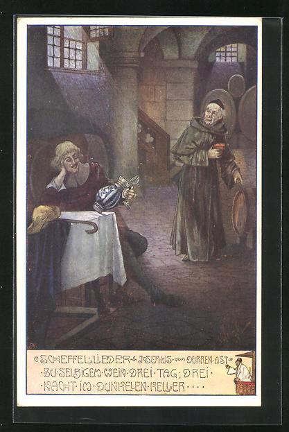 Künstler-AK T. Welzl: Scheffellieder, Josephus vom dürren Ast...