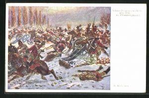 AK Mollwitz, Althann-Dragoner in der Schlacht