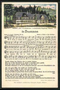 Lied-AK Anton Günther Nr. 25: Breitenbach im Erzgebirge, Gasthaus Zur Dreckschänke, Liedtext De Draakschänk