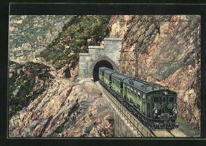 AK Karwendel-Bahn am Martinswand-Tunnel
