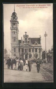 AK Bruxelles, Exposition Universelle de Bruxelles 1910, Palais de la Ville de Bruxelles