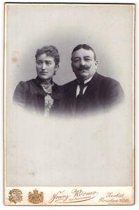 Fotografie Franz Körner, Zerbst & Rosslau a/Elbe, Portrait bürgerliche Eheleute