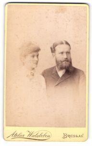 Fotografie Atelier Wlsleben, Breslau, Portrait junges bürgerliches Paar