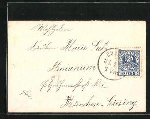 Briefumschlag mit Briefmarke - Private Stadtpost