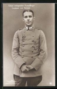 Foto-AK Sanke Nr. 516: Leutnant von Bertrab, unser erfolgreicher Kampfflieger in Uniform