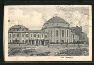 AK Mainz, Motiv der Neuen Synagoge
