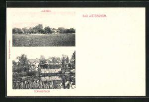 AK Bad Aistersheim, Augasse, Schmiedteich
