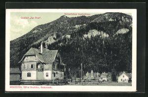 AK Mürzsteg, Gasthof zur Post u. Kaiserliches Jagdschloss
