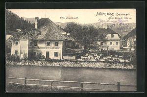 AK Mürzsteg, Blick auf Hotel Gasthof Engelbrecht