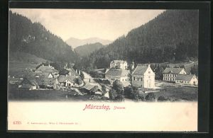 AK Mürzsteg, Blick auf den Ort