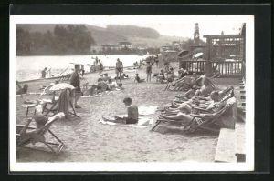 AK Mattsee, Strandleben im Sommer