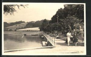AK Mattsee, Besucher an der Seepromenade