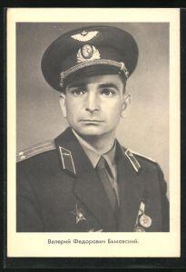 AK Kosmonaut in Uniform, Raumfahrt, Sowjetunion