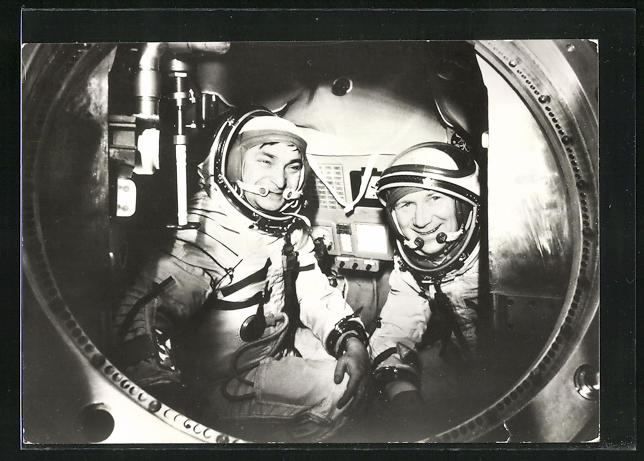 AK Gemeinsamer Kosmosflug UdSSR /DDR mit Sojus 31, Bykowski und Jähn 0