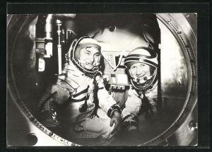 AK Gemeinsamer Kosmosflug UdSSR /DDR mit Sojus 31, Bykowski und Jähn