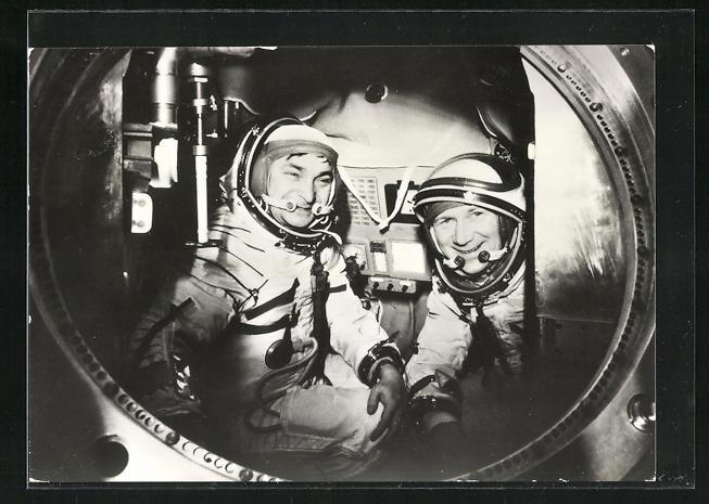 AK Gemeinsamer Kosmosflug UdSSR /DDR mit Sojus 31, Kosmonauten Bykowski und Jähn 0