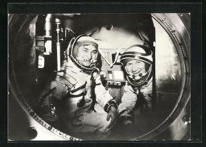 AK Gemeinsamer Kosmosflug UdSSR /DDR mit Sojus 31, Kosmonauten Bykowski und Jähn