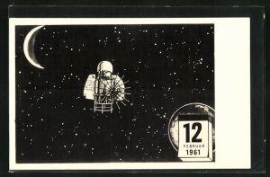 AK Sputniksonde zur Venus 1961, Raumfahrt