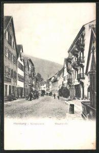 AK Hornberg i. Schwarzwald, Blick in die Hauptstrasse