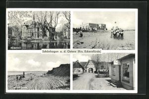 AK Schönhagen a. d. Ostsee, Haus Seestern, Kinderheim, An der Ostsee