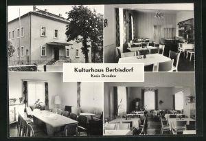AK Berbisdorf, Kulturhaus, Innen- und Aussenansichten