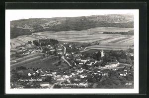 AK Heiligenkreuz, Fliegeraufnahme des Ortes
