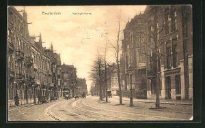 AK Amsterdam, Koninginnewag, Motiv aus dem Ort