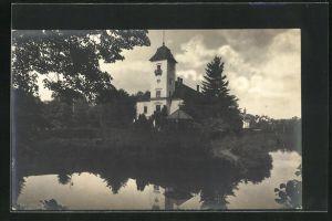 Foto-AK Oftering, Wasserschloss Freiling