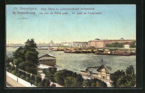 AK St. Petersbourg, La vue de Néva près le quai de l`Amirauté