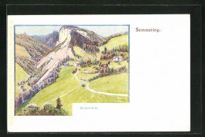 Künstler-AK Philipp + Kramer: Semmering, Breitenstein
