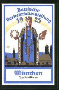 Künstler-AK Siegmund von Suchodolski: München, Deutsche Verkehrsausstellung 1925, Grafik