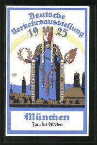 Künstler-AK Siegmund von Suchodolski: München, Deutsche Verkehrsausstellung 1925