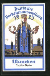 Künstler-AK Siegmund von Suchodolski: München, Deutsche Verkehrsausstellung 1925, Juni bis Oktober