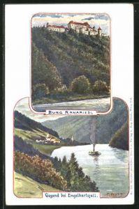 Künstler-AK F. Witt: Engelhartszell, Burg Ranariedl