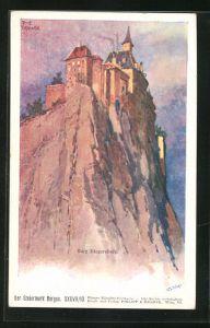 Künstler-AK Franz Kopallik: Burg Riegersburg, Steiermark