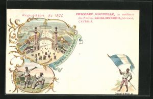 AK Paris, Exposition universelle de 1900, Porte de l`Esplanade, Guatemala