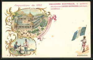 AK Paris, Exposition universelle de 1900, Ensemble du Petit Palais, Nicaragua