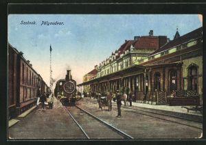 AK Szolnok, Pályaudvar, Motiv vom Bahnhof